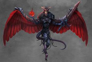 Paizo: Godspawn Vrock (Demons Revisited) by damie-m