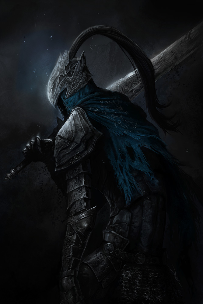 Vos personnages de fiction favoris ? Knight_artorias_by_damie_m-d6mzi5m