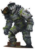 Beastiary 4 - Stone Colossus by damie-m