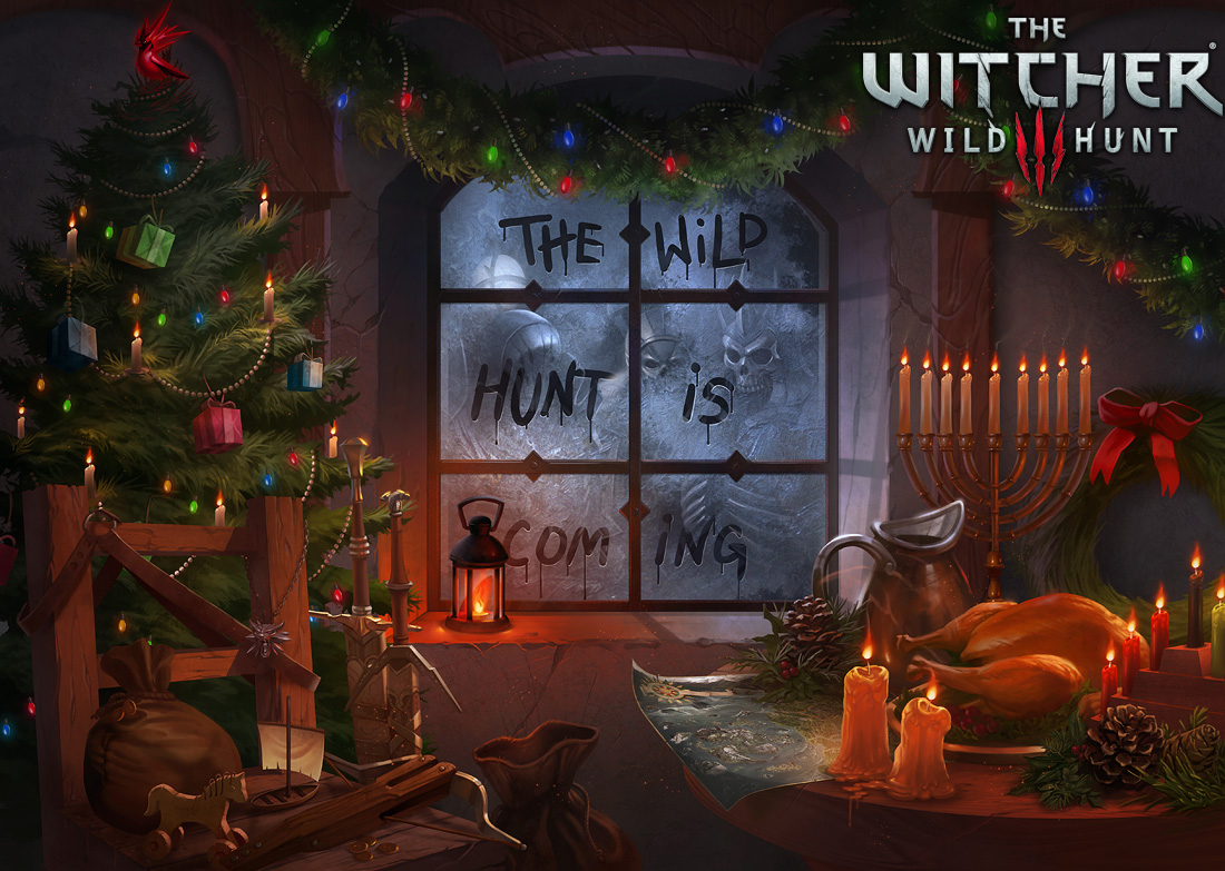 Witcher 3 Holiday Card by damie-m