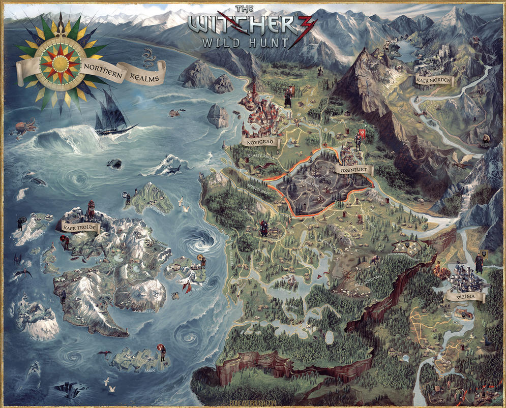 Witcher 3 Collectors Edition Map (FULL) by damie-m