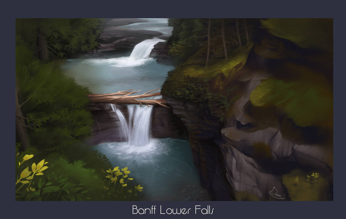 Lower Falls - Procreate by damie-m