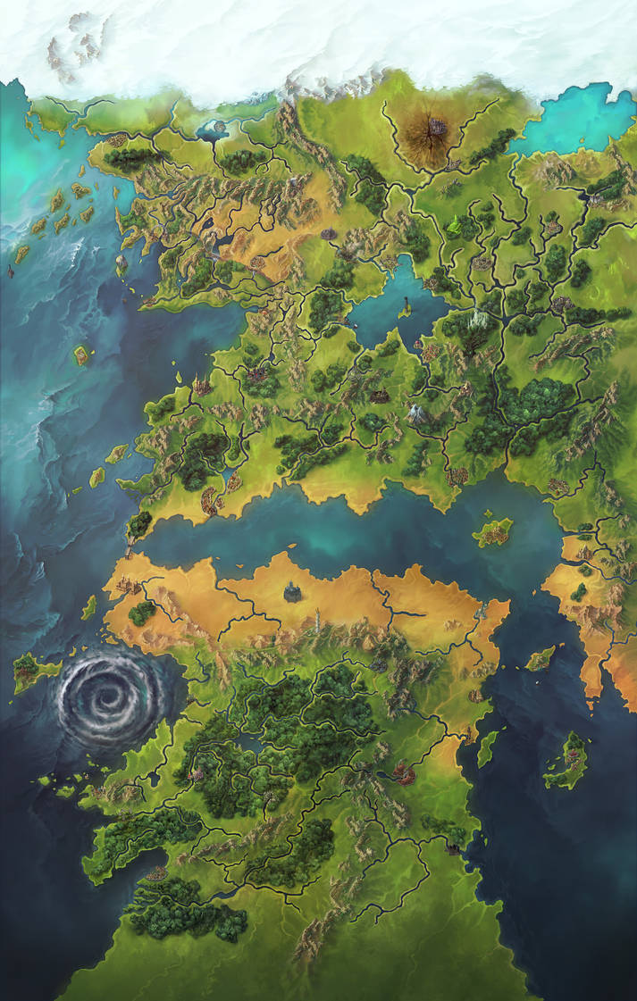 Pathfinder Second Edition Inner Sea World Map By Damie M