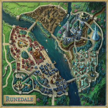 City map of Runedale (Agemonia)