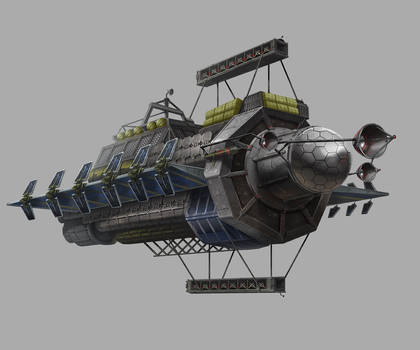 Multifold Harvester Ship Illustration