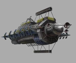 Multifold Harvester Ship Illustration