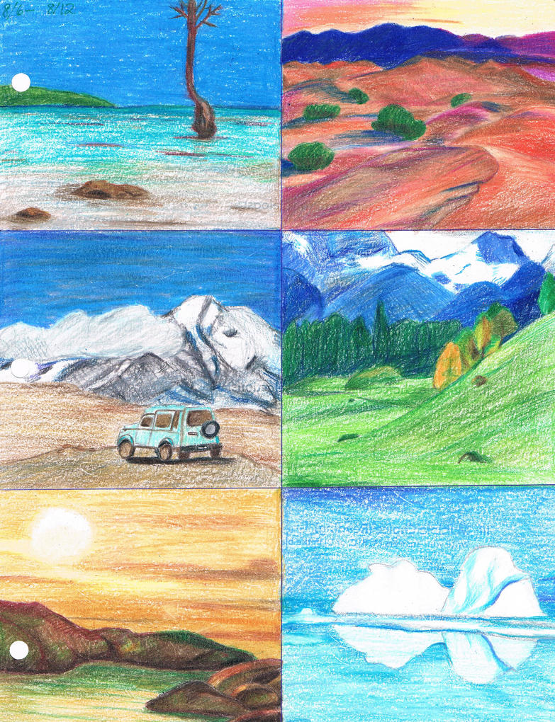 Six Landscapes by elarnis