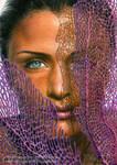 Helena Christensen / colored pencils