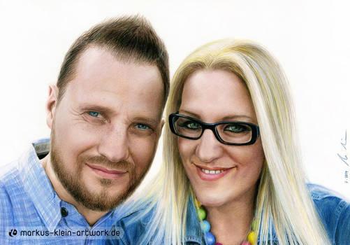 Natascha and Markus (Colored pencils)