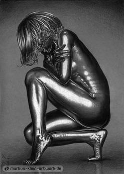 Rihanna Silver (Colored Pencil)