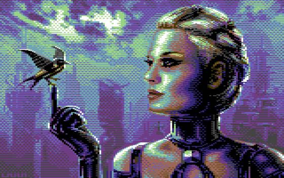 Cyberbird (C64 Pixel Art, 16 Colors)