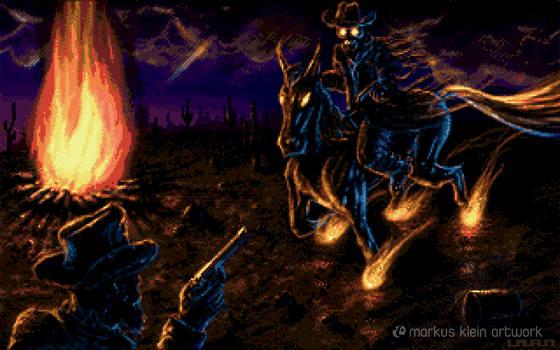 Ghost Rider (Amiga Pixel Art)