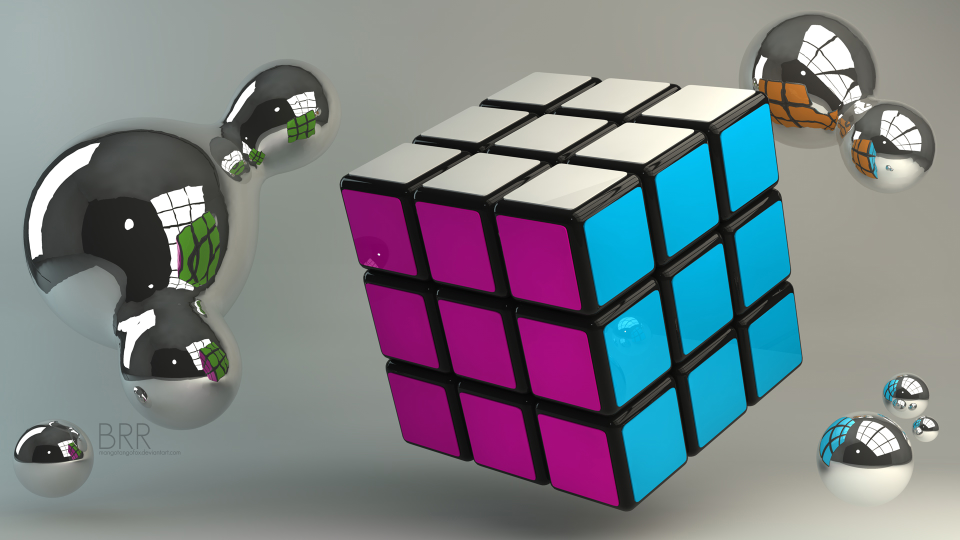 3d Rubik S Cube Wallpaper Speedsolving Puzzles Community