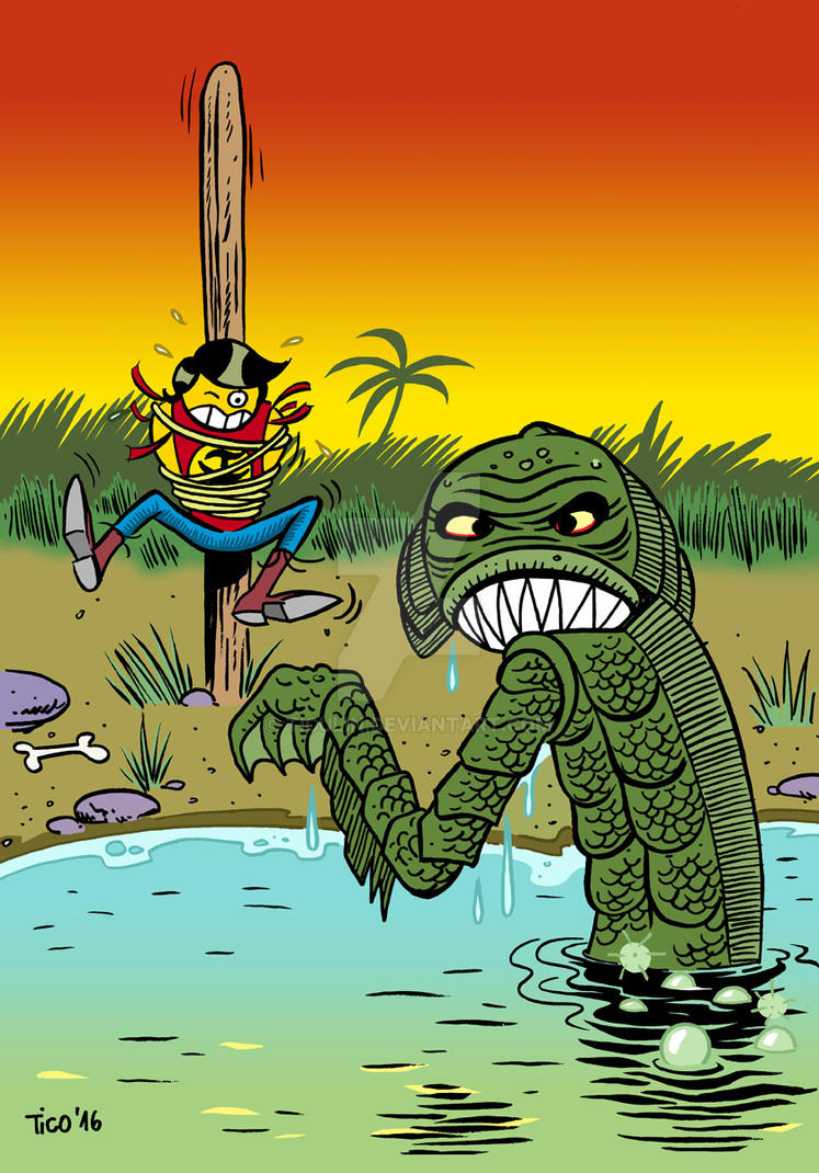 Zagor Vs. Swamp Creature by ticulin