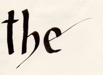 The Calligraphy by Eredien