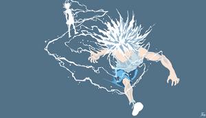 Killua godspeed - HunterxHunter (Flat background)