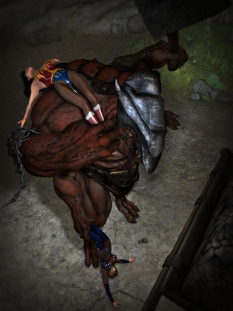 Wonder woman defeated and fucked by the dragonborn