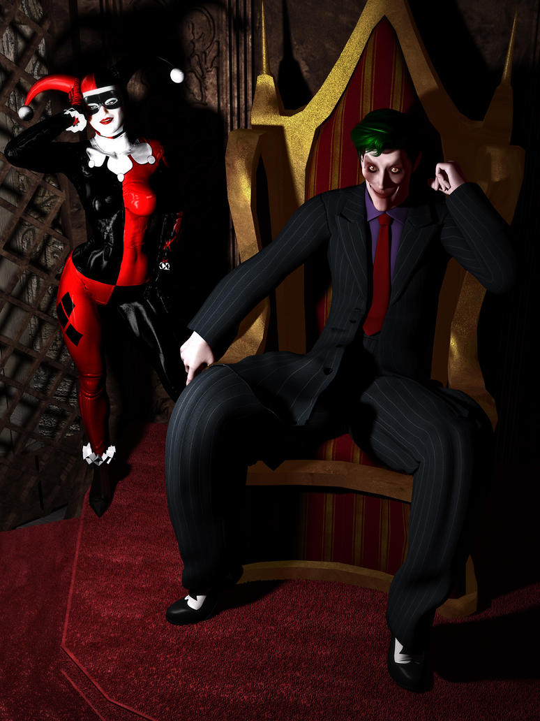 Clown King of Crime and his Consort by MollyFootman