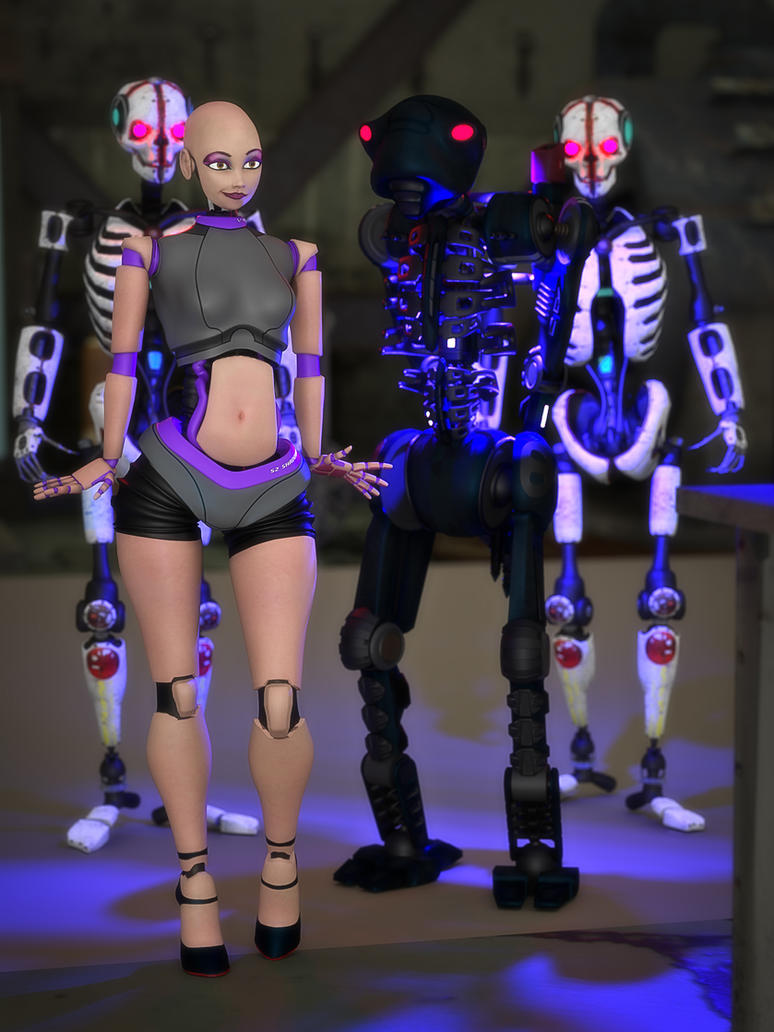 Shades of humanoid by MollyFootman
