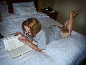 Molly reading by MollyFootman