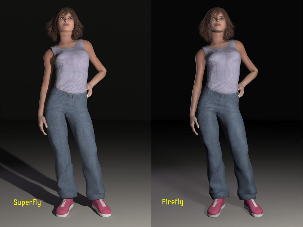 Poser 11 Rendering Engine Comparision by MollyFootman