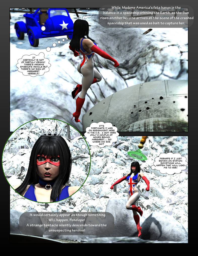 Madame America Abducted Page 5 By Mollyfootman On Deviantart