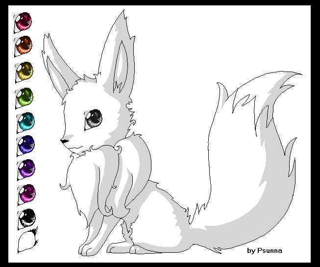 Free to Use Pokemon Images Eevee_template_lineart_base_by_psunna-d3k5hzh