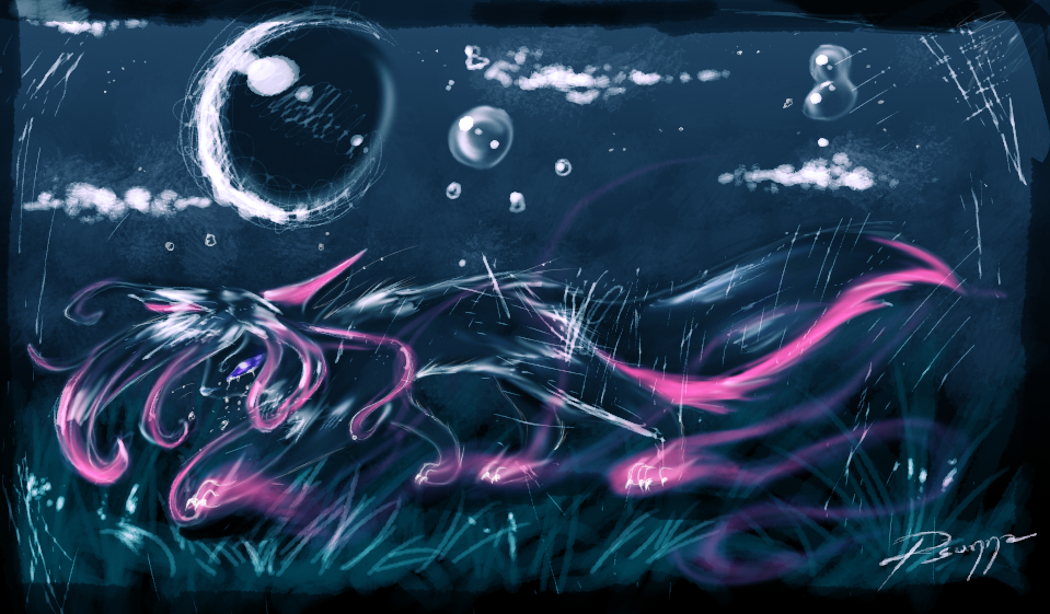 Tears become bubbles become stars by Psunna
