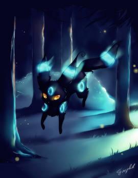 Shiny Umbreon, Pokemon (with Speedpaint Video)