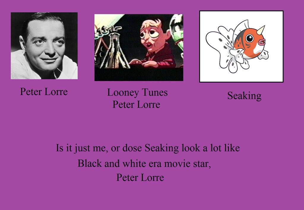 Seaking, The Peter Lorre pokemon by TheWalrusclown