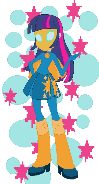EG Twilight Sparkle dressed as DCoU Dr. Fate redo by TheWalrusclown