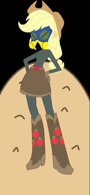 EG Applejack dressed as DCoU Sand by TheWalrusclown