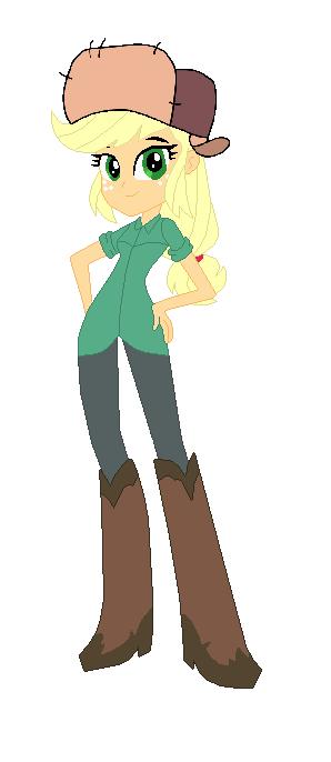 Applejack Dressed as Wendy from Gravity Falls by TheWalrusclown