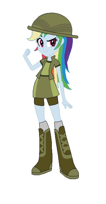 Rainbow Dash as Daring Doo by TheWalrusclown