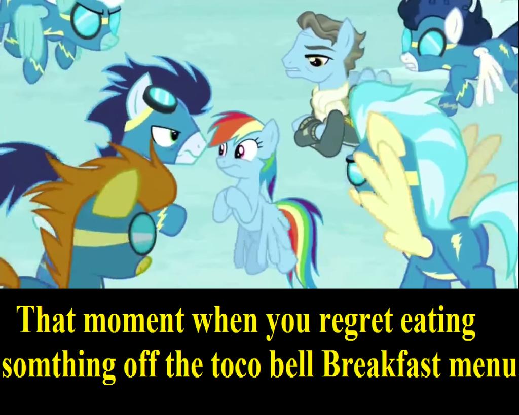 mlp taco bell breakfast demotivateional by TheWalrusclown