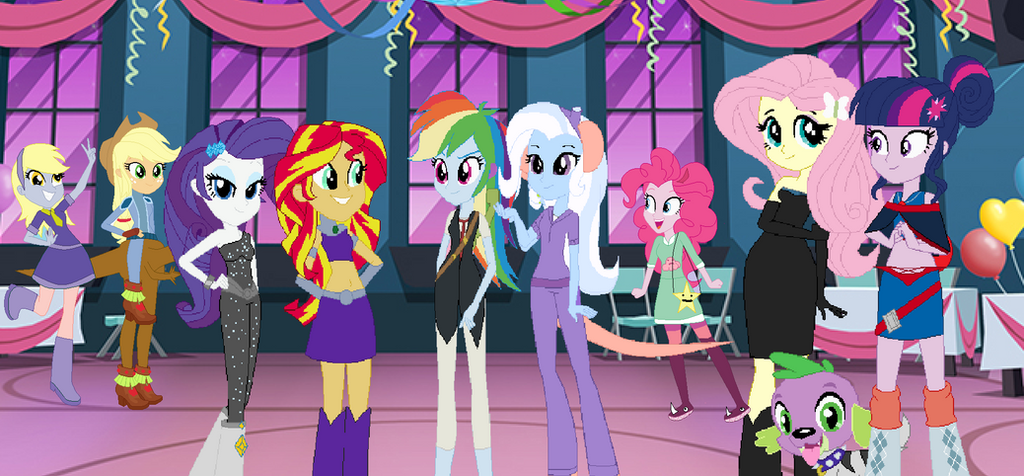 Equestria Girls Halloween year 3 by TheWalrusclown