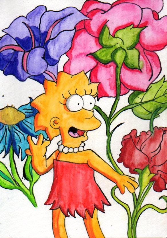 Lisa Loves The Flowers By Eddie Lou Fan On Deviantart