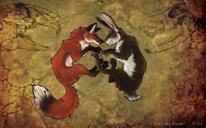 Fox Loves Rabbit by jezzy