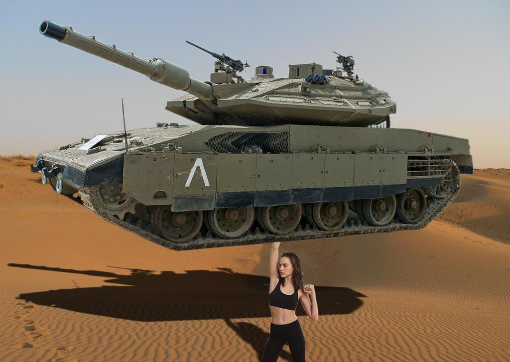 Gal Gadot Tank Lift by Grimmtoof