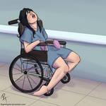 Slumped In Wheelchair