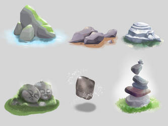 Stones and Rocks by SaraFaber