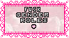 Fuck gender roles stamp by I-Really-Am-Trash