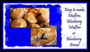 Recipe - Blueberry Muffins