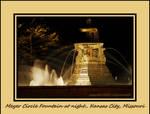Meyer Circle Fountain at night