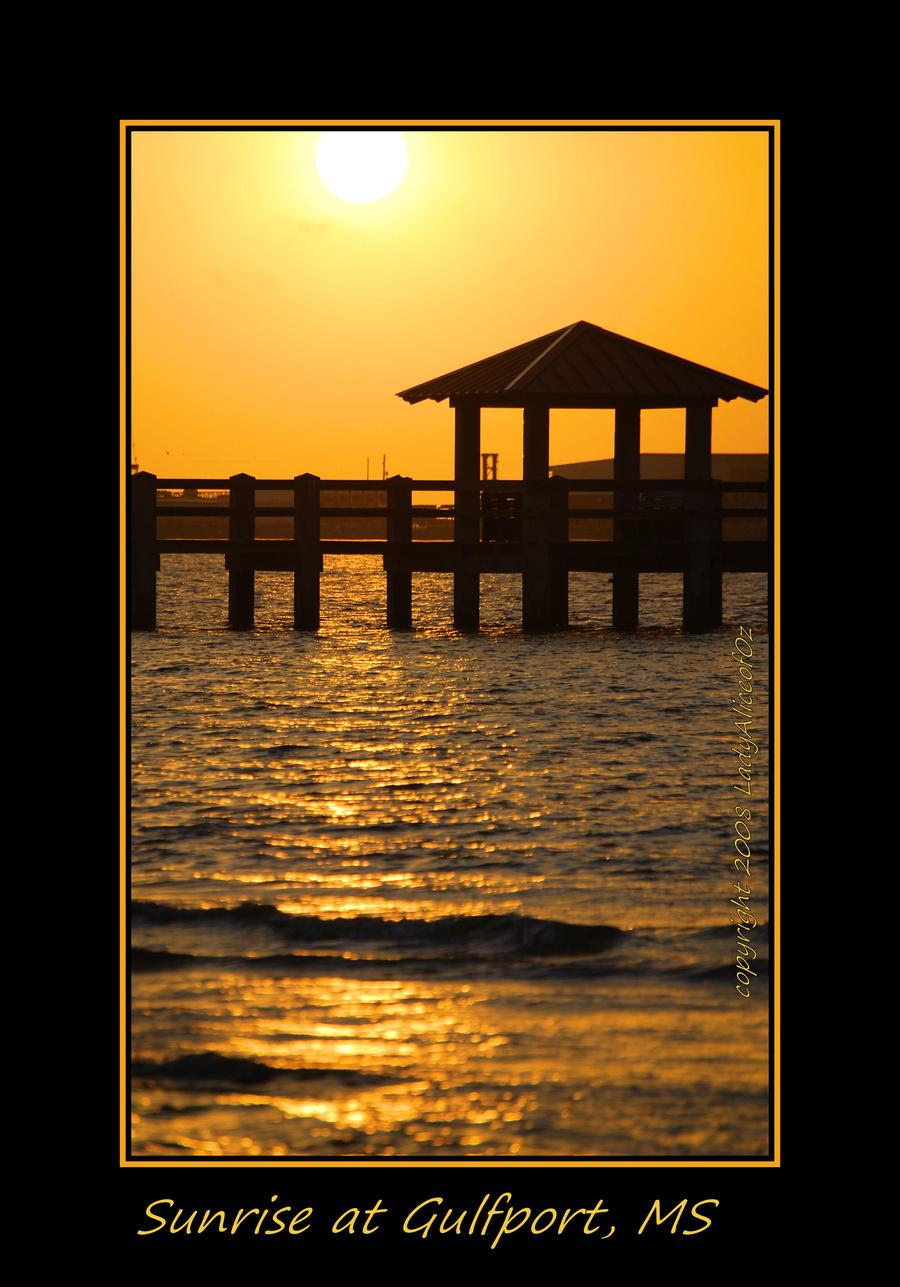 Sunrise At Gulfport, MS by LadyAliceofOz