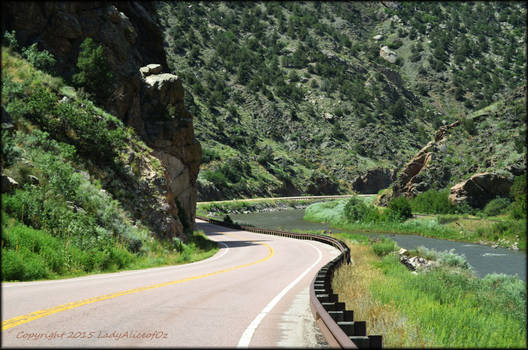 Along the river on Highway 50 West...