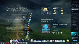 Desktop Rainmeter + RocketDock