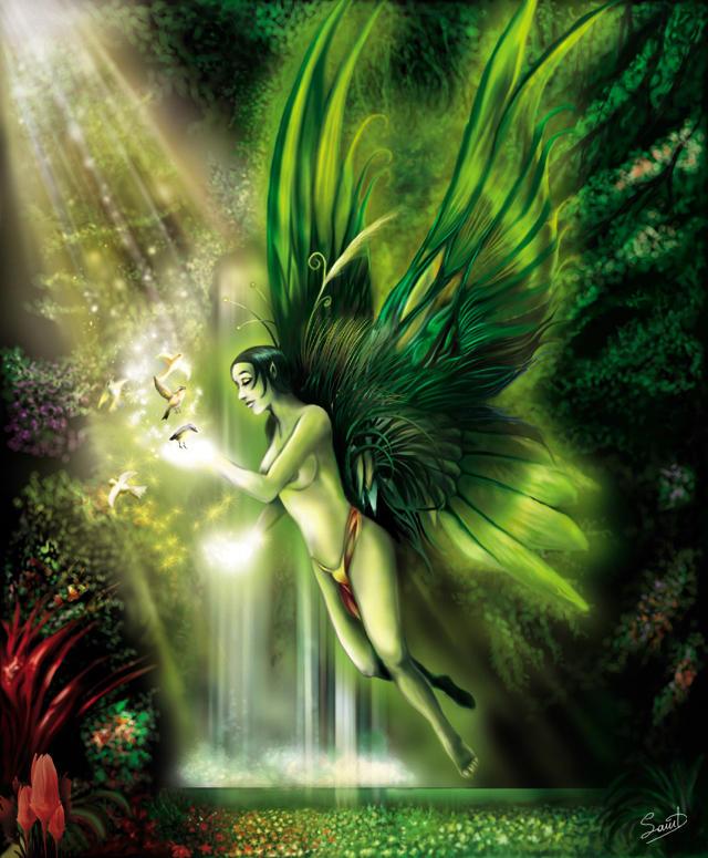 Green Faery by agios