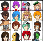 Nicoronpa Crew Coloured by Ty-Ky