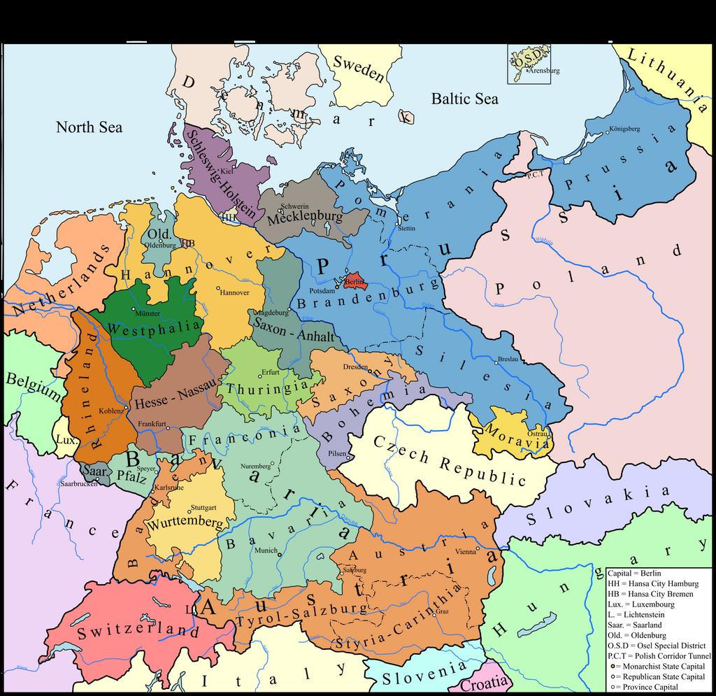 Remnent German Empire MotF By SamuelVonStrasburg On DeviantArt - Germany map 2016